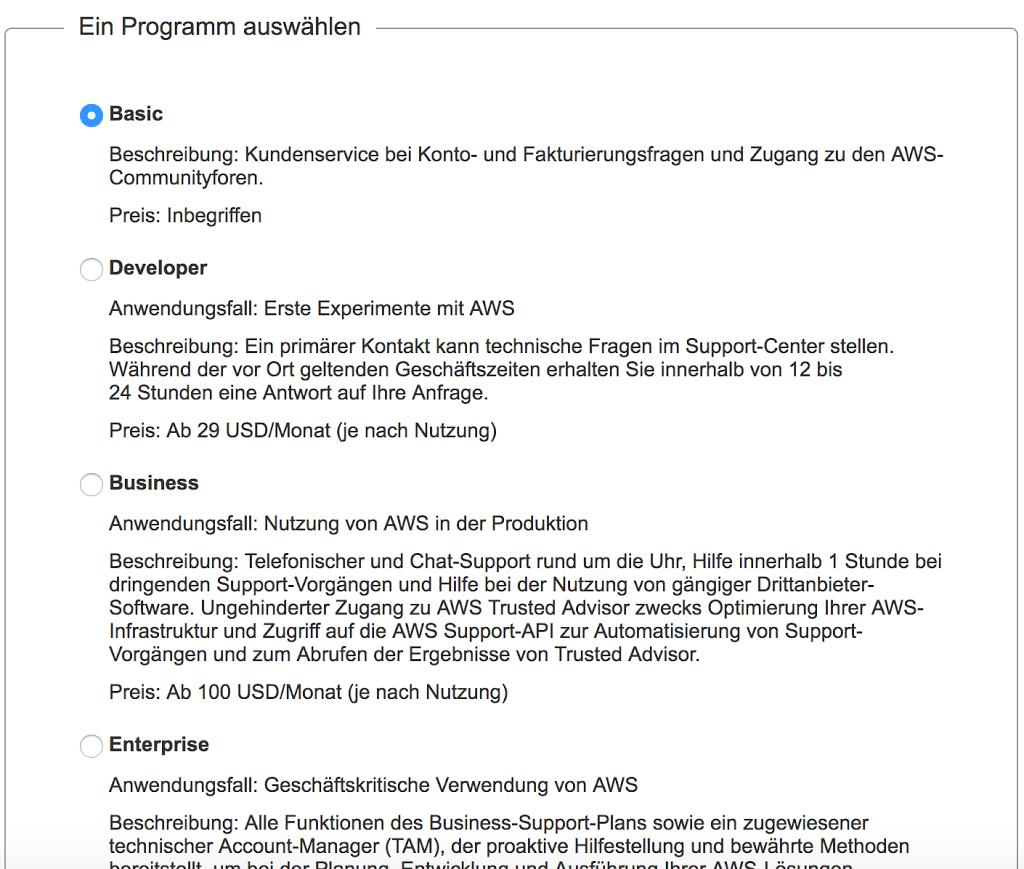 Amazon AWS Programm