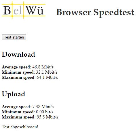Speedtest BelWü