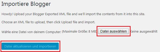 XML File importieren