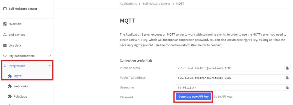 ttn v3 stack mqtt